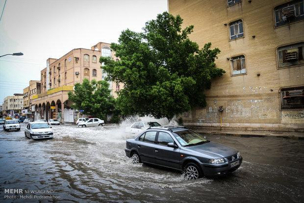 آمادگی کامل شهرداری حسینیه برای رفع سیلاب احتمالی و آب گرفتگی