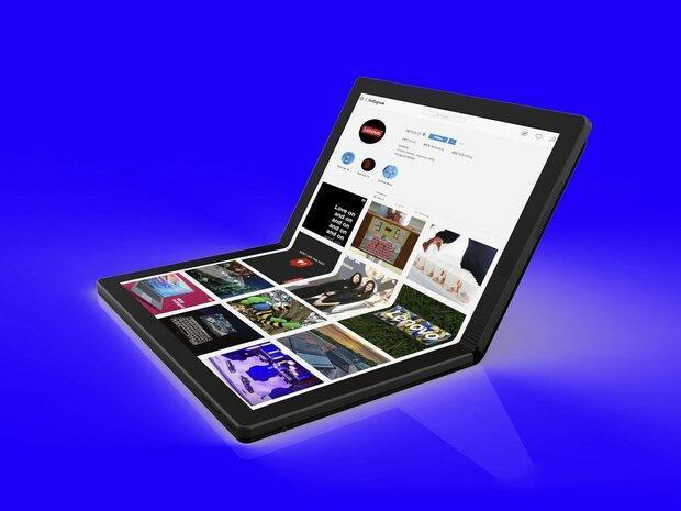 لنوو از لپ تاپ با نمایشگر تاشو رونمایی کرد