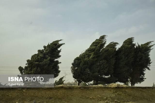 پیش بینی وزش باد در اصفهان