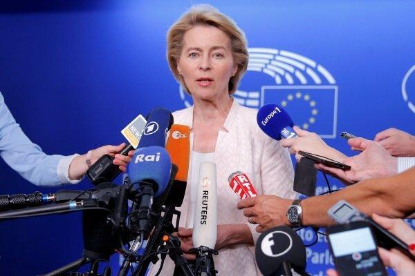 مجلس اروپا به فون درلاین برای ریاست این کمیسیون رأی داد