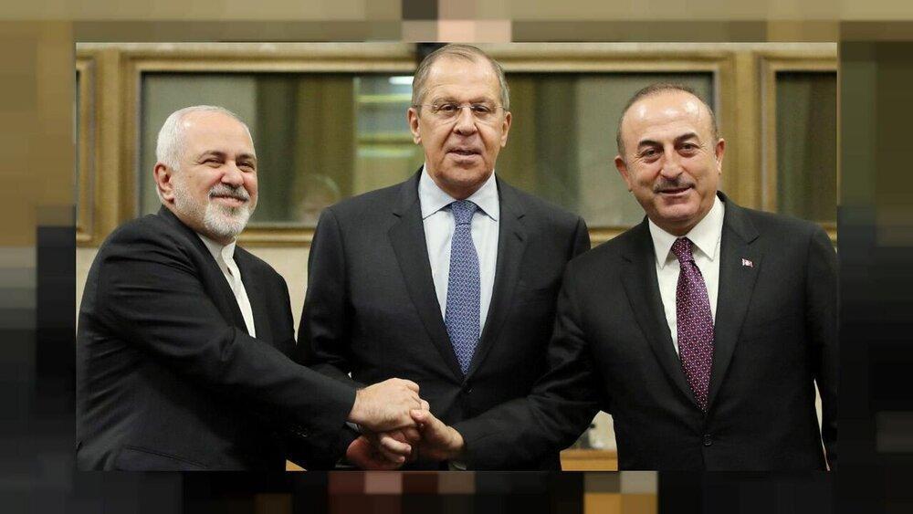دیدار وزیران امورخارجه ایران، روسیه و ترکیه با نماینده دبیرکل سازمان ملل