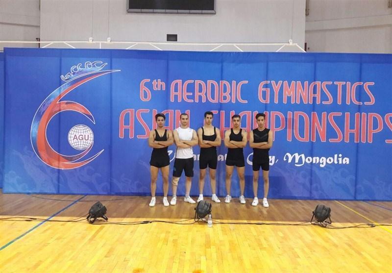 عنوان چهارمی تیم ملی ایروبیک ژیمناستیک کشورمان در رقابت های قهرمانی آسیا