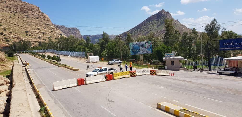 خبرنگاران ورودی اندیکا از سمت مسجدسلیمان بسته شد