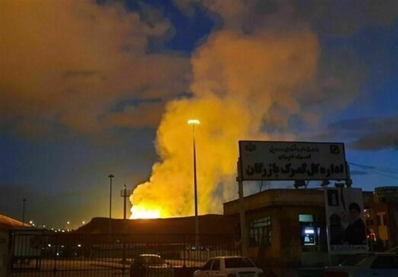 انفجار در خط لوله انتقال گاز ایران به ترکیه
