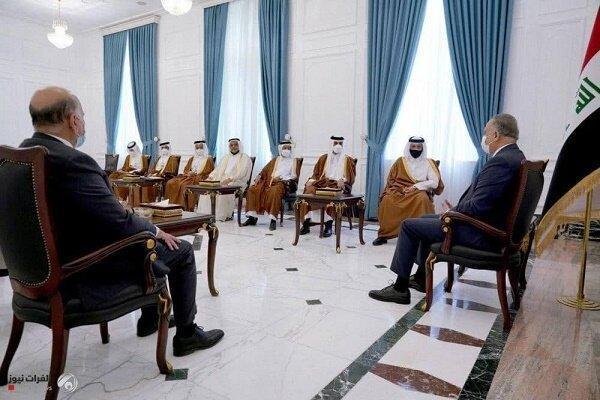 دعوت وزیر خارجه قطر از الکاظمی و صالح برای سفر به دوحه