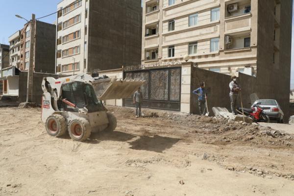 اجرای عملیات احداث و بهسازی خیابان پاییزان دو در منطقه 19
