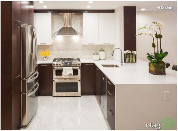 قبل و بعد از بازسازی آشپزخانه قدیمی 10 متری ، 6 مدل متفاوت